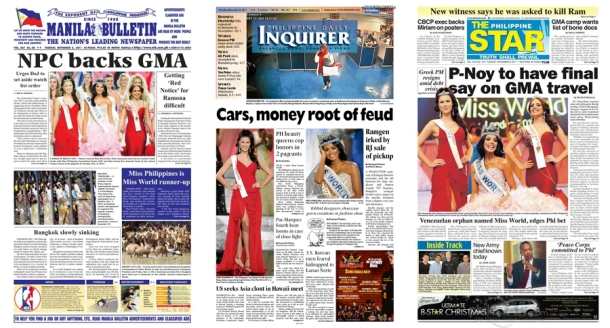Front Pages 2011: The Miss World Pageant