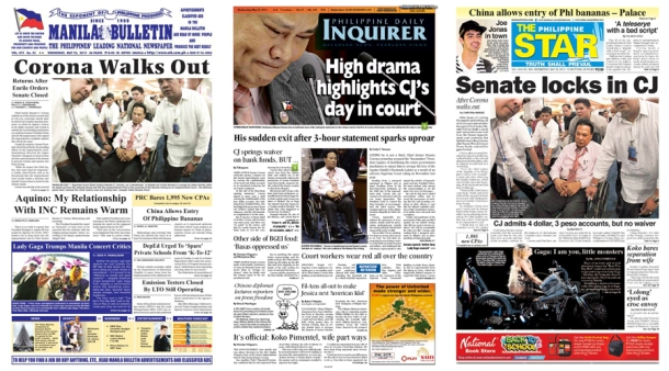 Front Pages: CJ Corona Impeachment Trial - Day 40